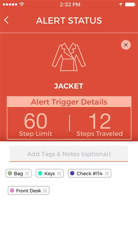 Don't Leave It! Reminder App_Alert Status Screen